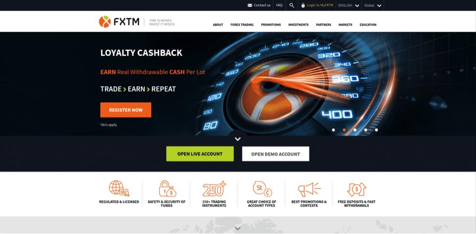 FXTM Website