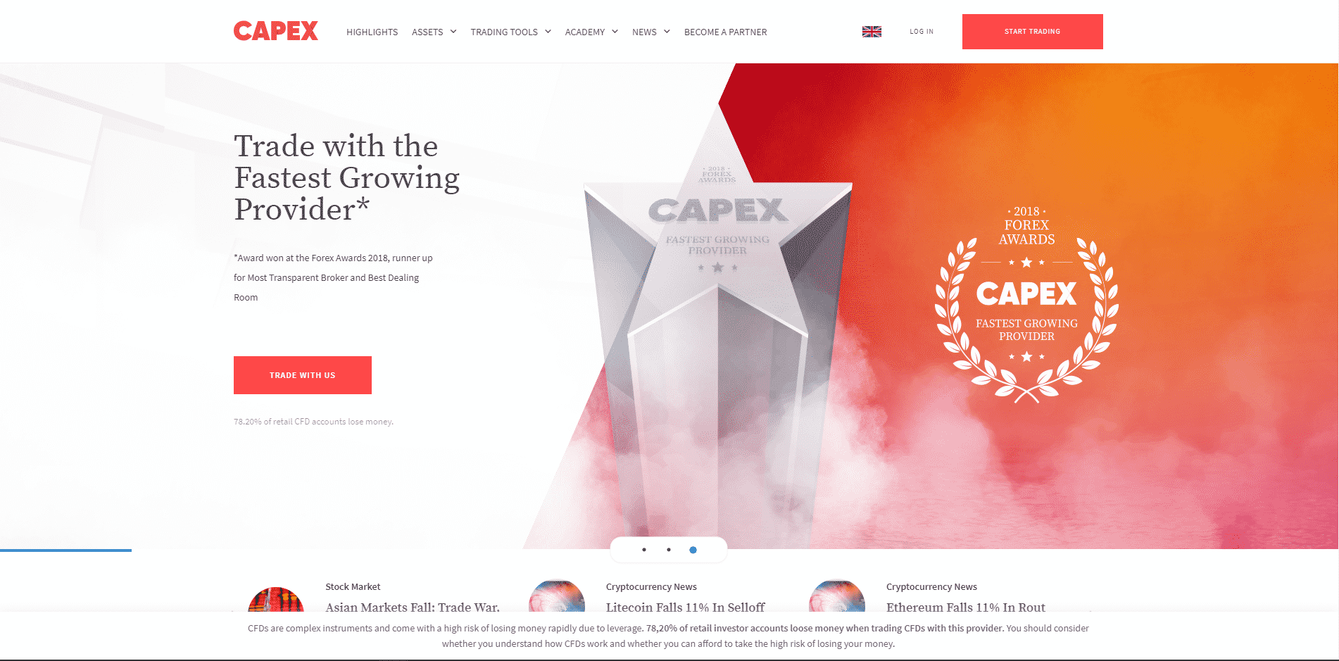 Capex Website Screenshot