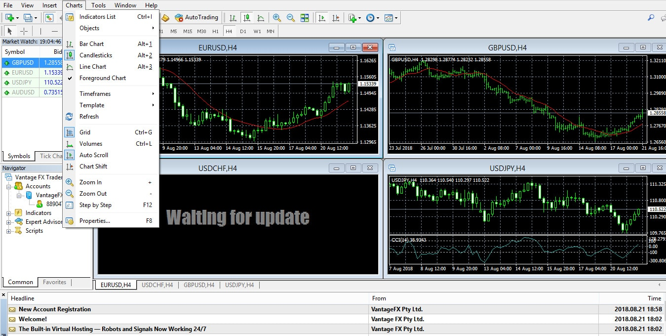 Vantage Platform Screenshot