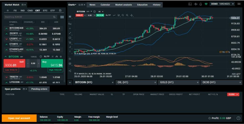 XTB XStation Screenshot