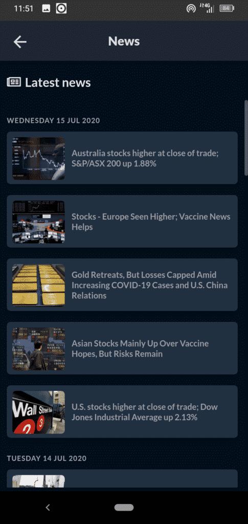 Skilling Mobile Trading App Screenshot