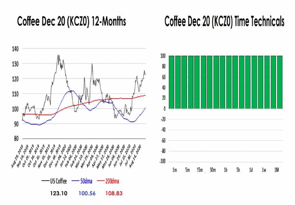 coffee 12 month chart