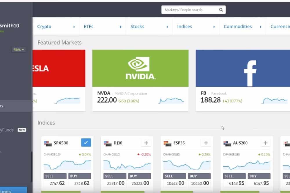 eToro Platform