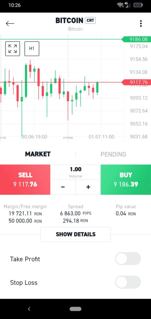 XTB Mobile App Screenshot